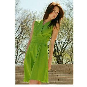 ⭐ Egyptian Lien Wrap Dress